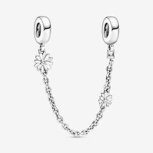 🍓Pandora Daisy Flower Safety Chain Charm